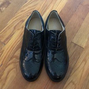 Italian Pleather Oxford Shoes - BRAND NEW